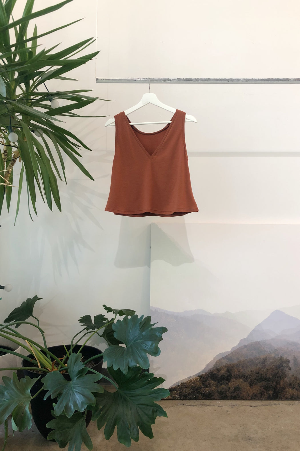 Reversible Crop Tank | Rust