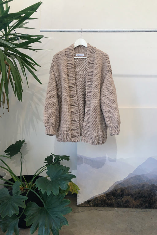 ESSENTIAL CARDIGAN | GREIGE