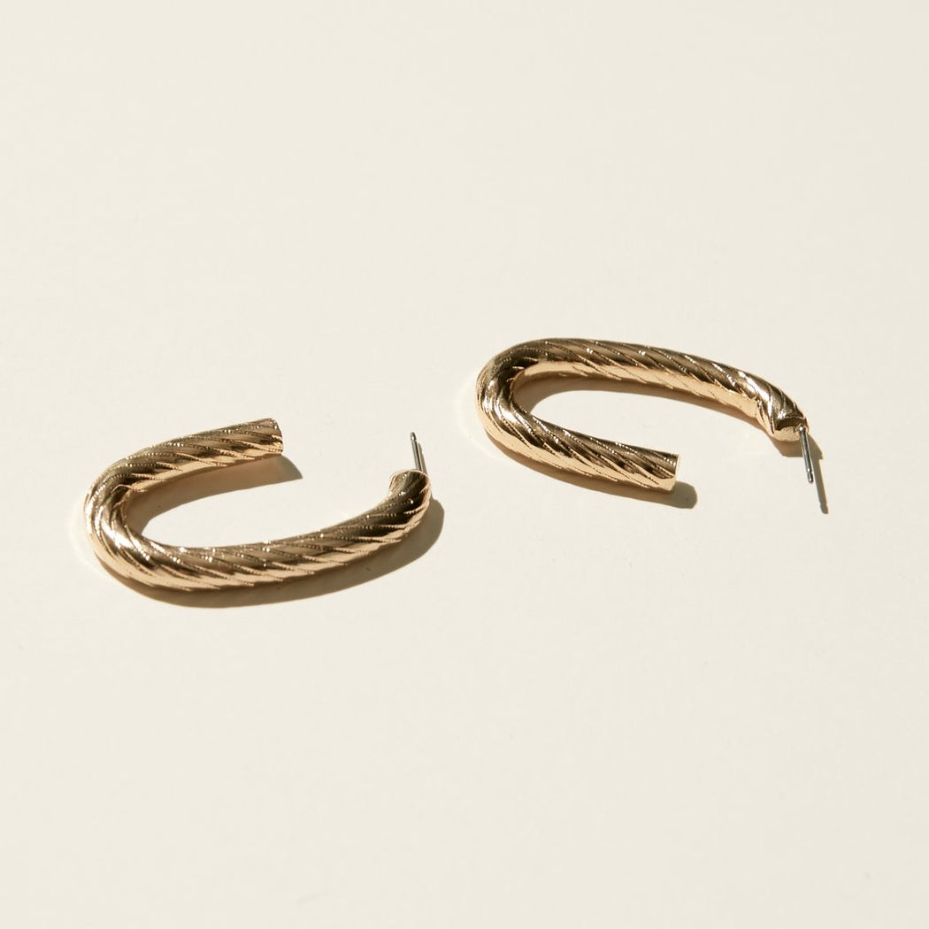 Maslo Jewelry | Textured Oval Earrings | Hazel & Rose | Minneapolis