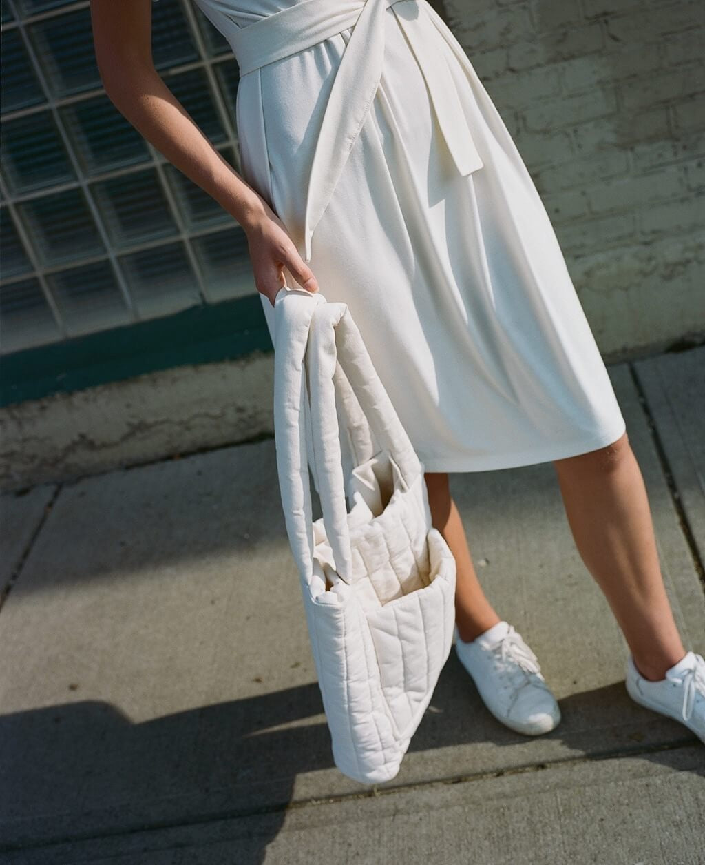 Quilted Tote | Cream