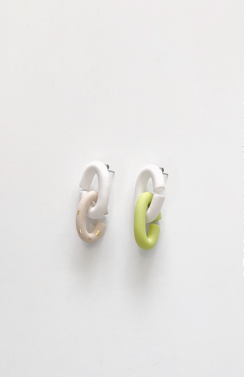 DOUBLE LINK SET | NUDE CHARTREUSE MULTI