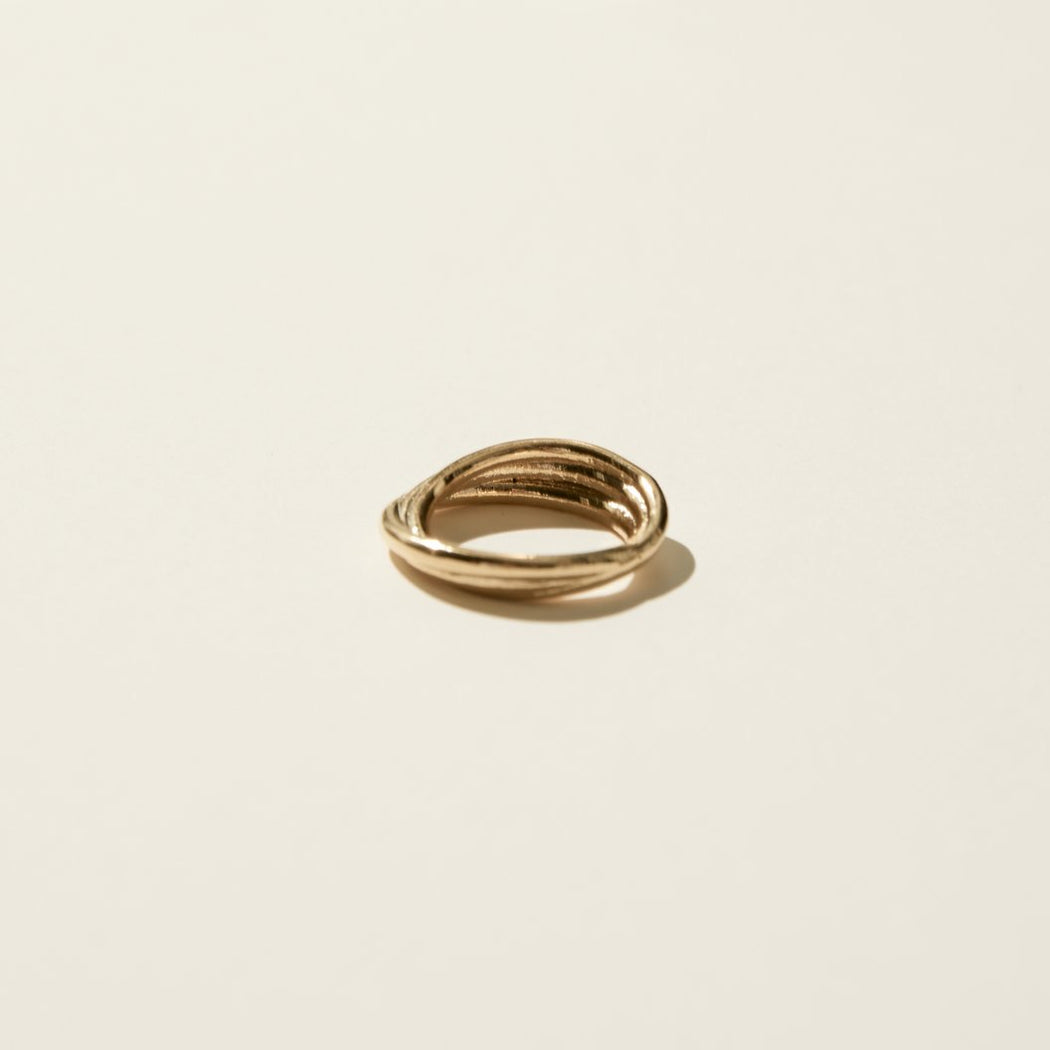 Maslo Jewelry | Triple Twist Ring | Hazel & Rose | Minneapolis