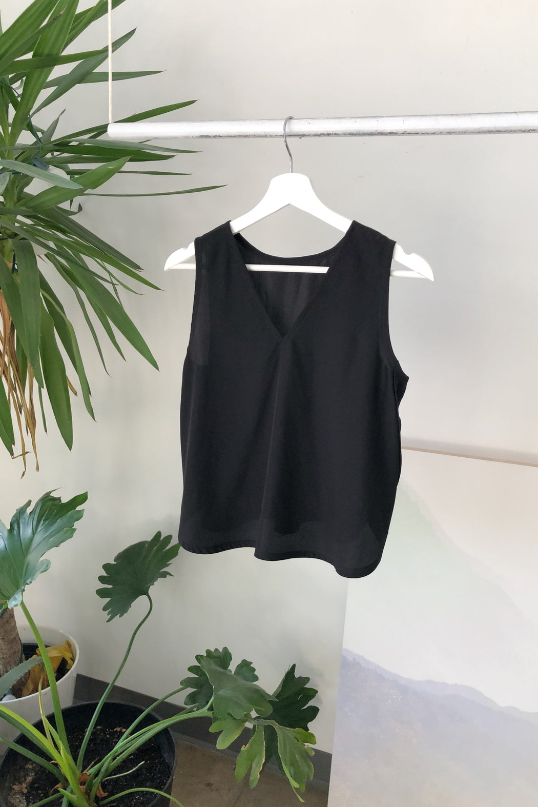 Marcell Tank | Black Silk
