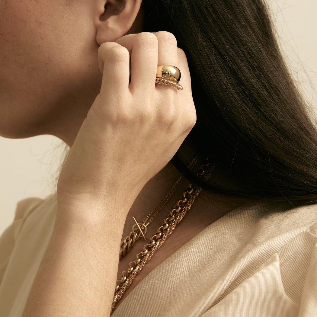 Maslo Jewelry | Domed Ring | Hazel & Rose | Minneapolis