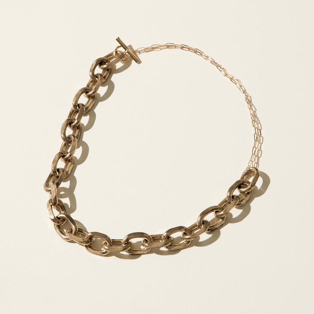 Maslo Jewelry | Antiqued Chain Necklace | Hazel & Rose | Minneapolis