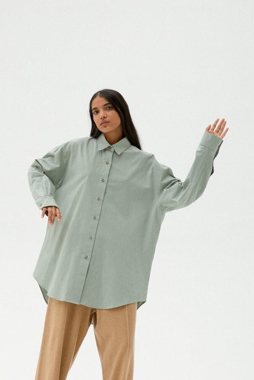 Mónica Cordera | Cotton Shirt | Silver Blue | Hazel & Rose | Minneapolis