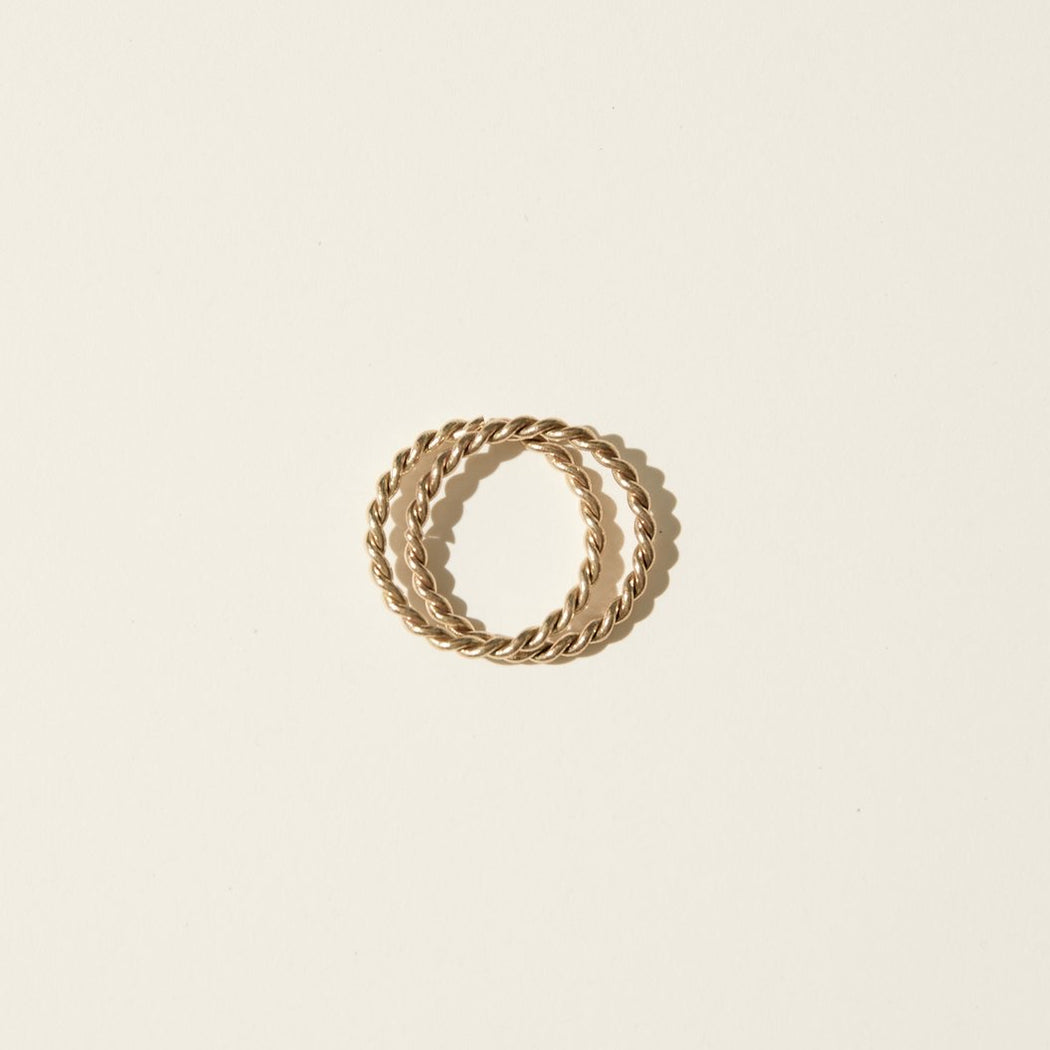 Maslo Jewelry | Double Twist Ring Set | Hazel & Rose | Minneapolis