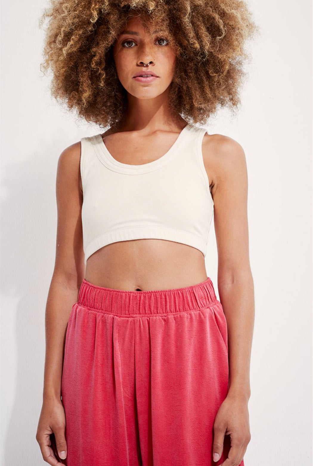 Back Beat Co. | Organic Cotton Double Band Bra | Creme | Hazel & Rose | Minneapolis