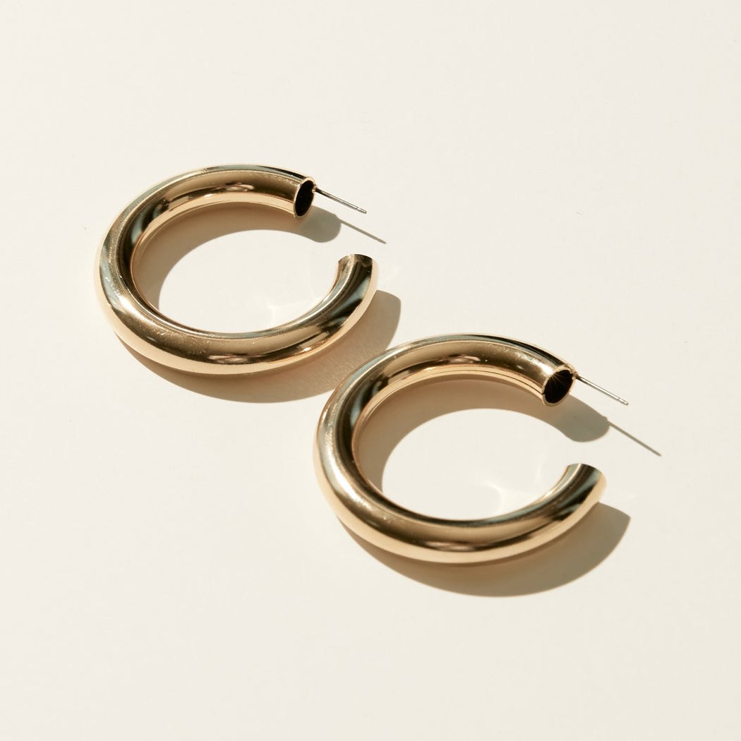 Maslo Jewelry | Large Hoop Earrings | Hazel & Rose | Minneapolis