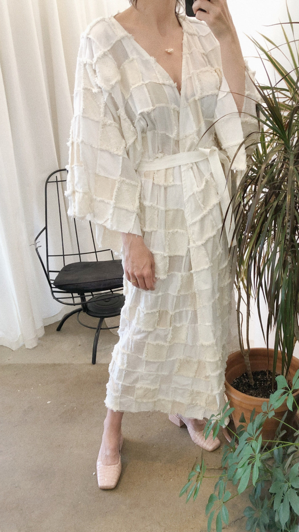 The Sybil Dress/Duster | Zero Waste Ivory Multi