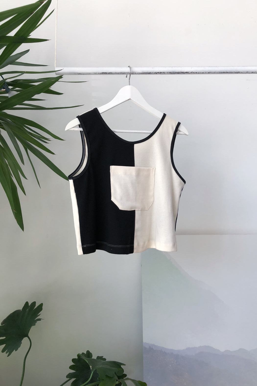 Cotton Crop Top | B+W
