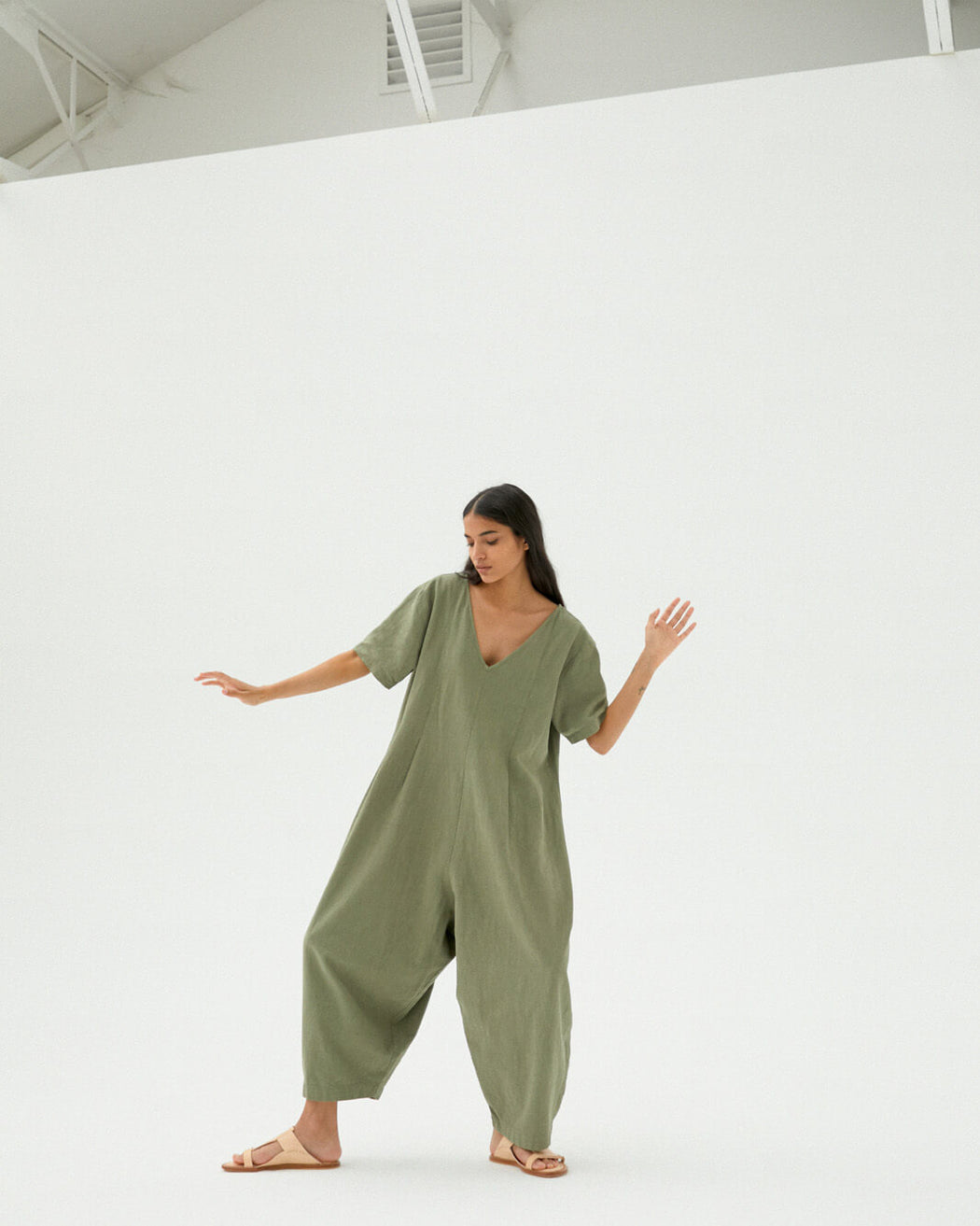 Maxi Jumpsuit | Sage Green