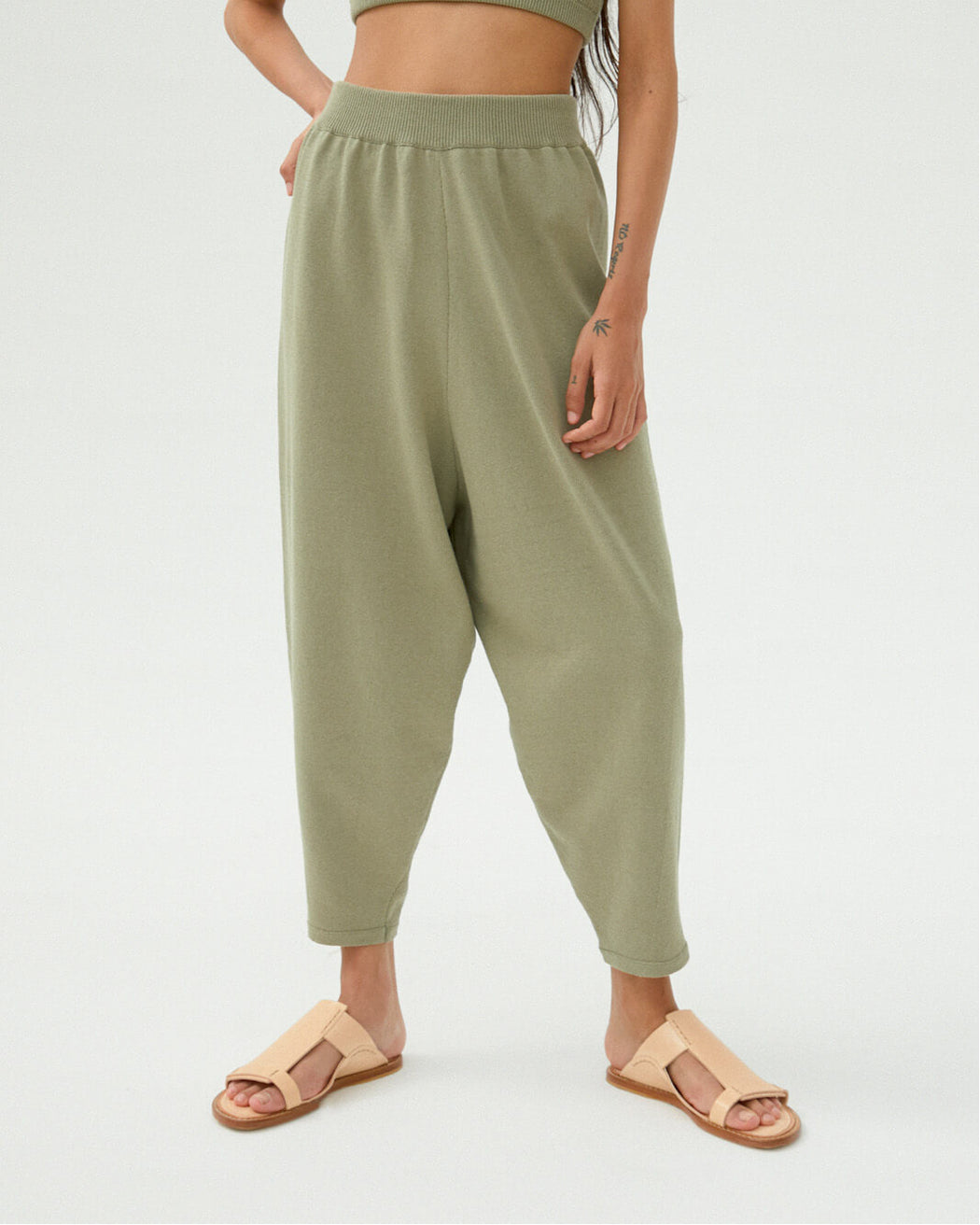 KNIT PANTS | Sage Green
