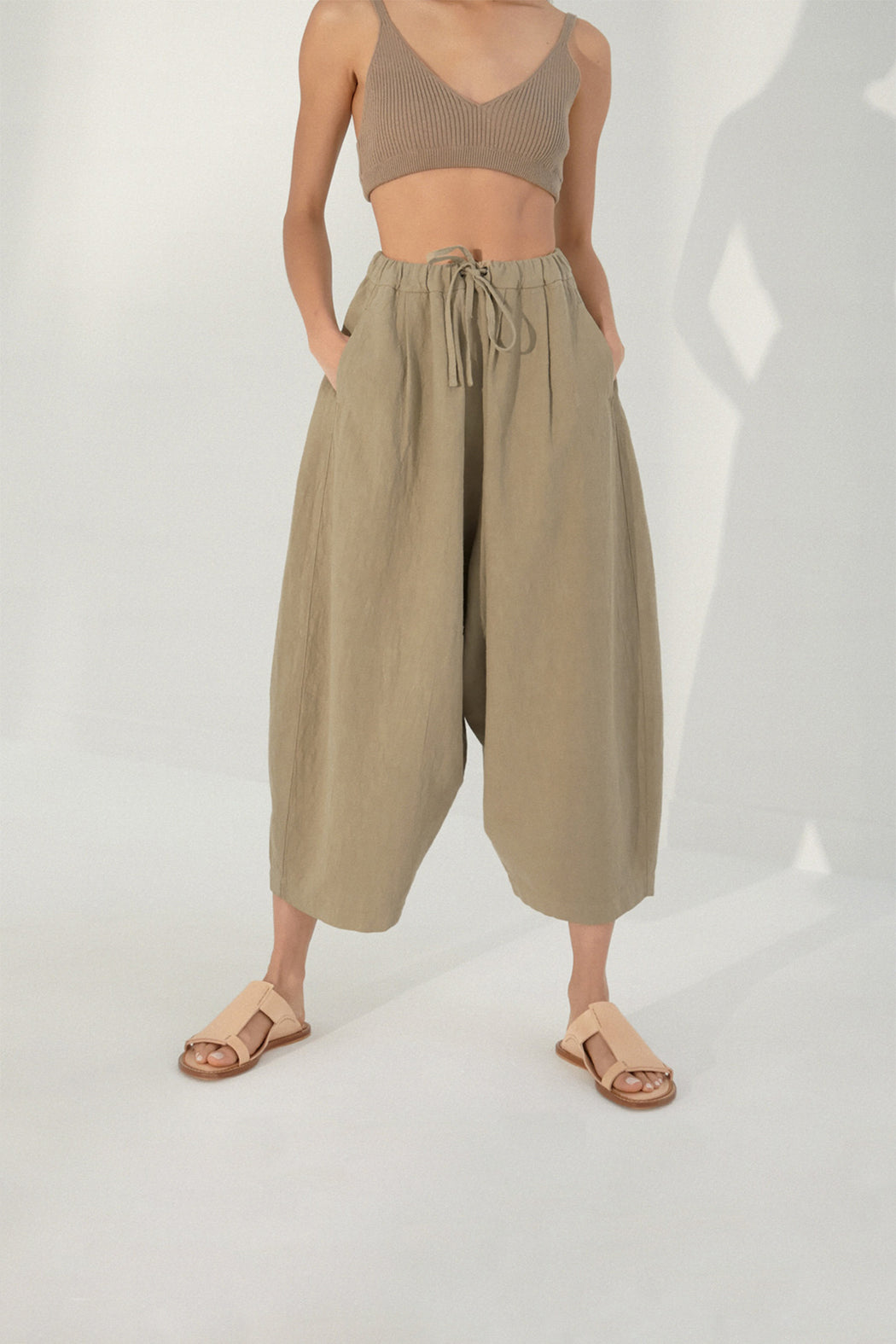 Mónica Cordera | MAXI RAMIE PANTS | MAXI RAMIE PANTS | SMOKED GREEN | Hazel & Rose | Minneapolis