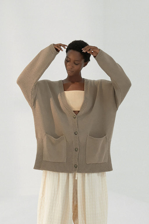 Mónica Cordera | CHUNKY CARDIGAN | TAUPE | Hazel & Rose | Minneapolis