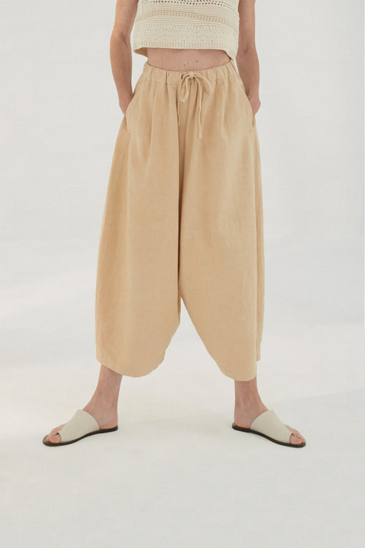 Mónica Cordera | MAXI RAMIE PANTS | WHEAT | Hazel & Rose | Minneapolis
