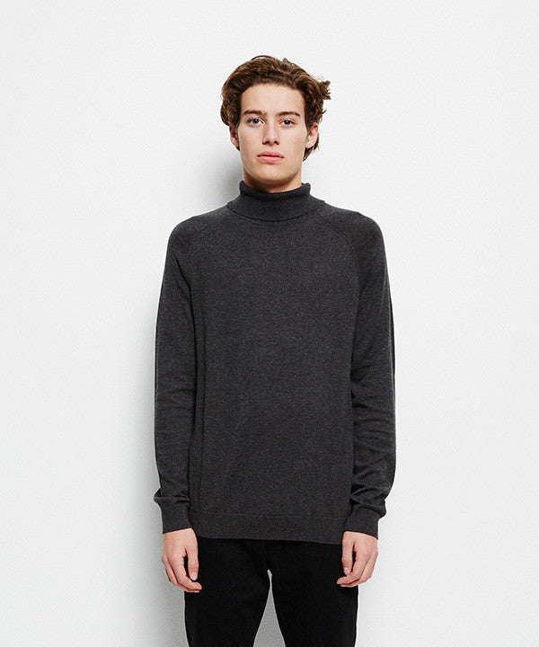 Selected SHDAdam Roll Neck Antracit Knitwear Selected - hoohastore.com