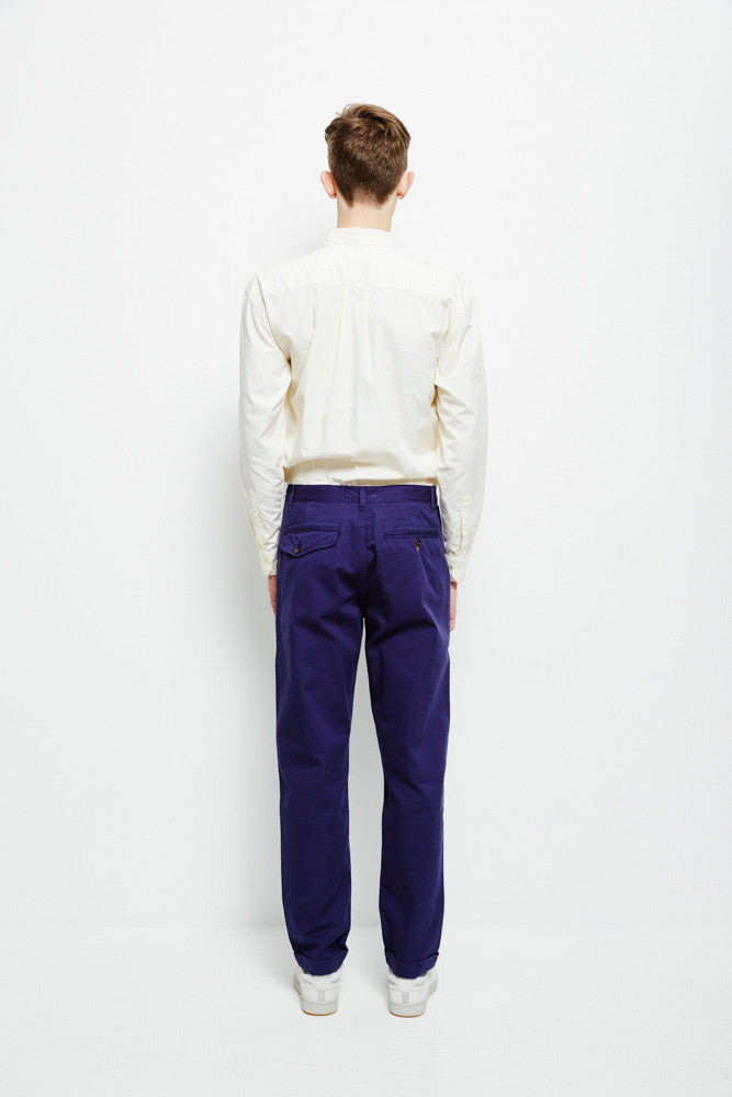 Uw Byron Twill Suit Pants Work Blue Trousers Universal Works - hoohastore.com