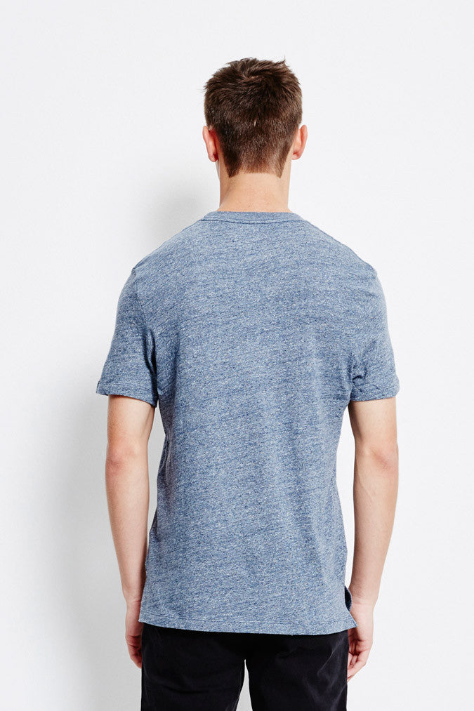 Selected SHNMagne Melange SS O-neck Ombre Blue T-shirts Selected - hoohastore.com