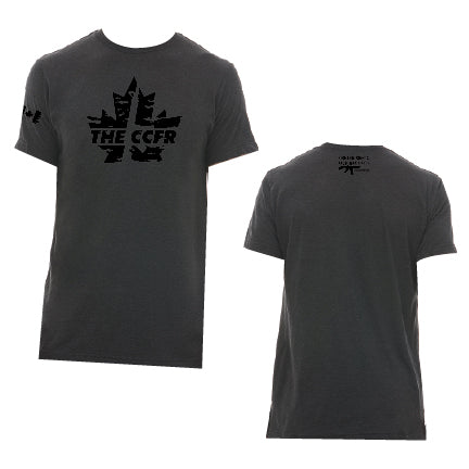 Bold New CCFR Logo T-Shirt - Black on Grey
