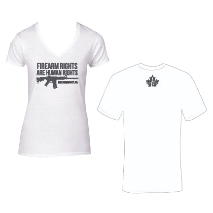 Ladies CCFR Human Rights Tee - Crisp White