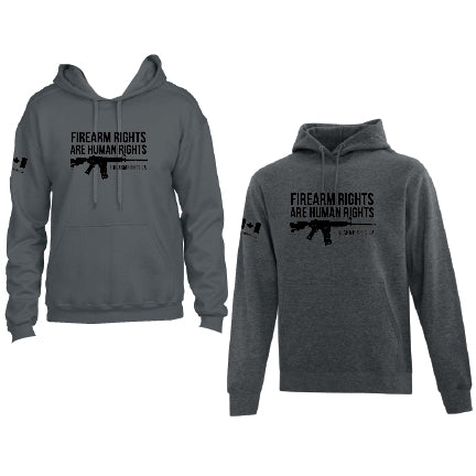 Grey CCFR Human Rights Hoodie