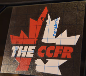 Bold CCFR Logo Transfer Sticker