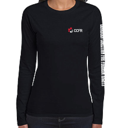 Classic CCFR Logo Ladies Fitted Long Sleeve