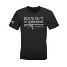 CCFR Human Rights Support T-Shirt - Grey on Grey