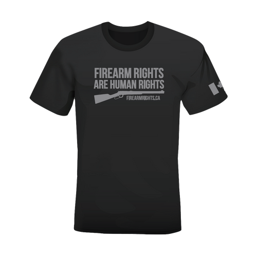 CCFR Human Rights Support T-Shirt - Grey on Grey Lever