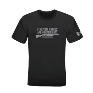 CCFR Human Rights Support T-Shirt - Grey on Grey Shotgun