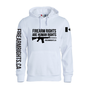 White CCFR Human Rights Hoodie