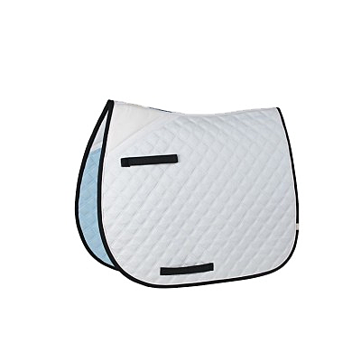 LÉTTIA Pro Series Dressage Pad White w/black and white