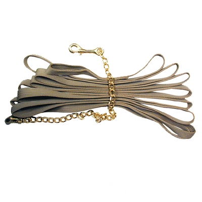 Intrepid International Lunge Line Deluxe Cotton with Solid Brass Chain