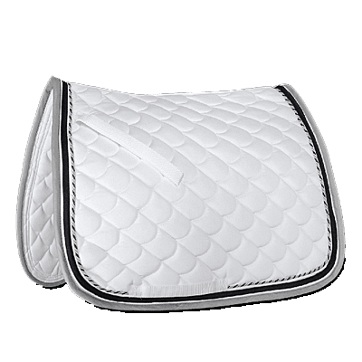 Waldhausen Rome Saddle Pad-White/Grey