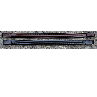 KL Select Centerline Round Raised Black Browband – 131004