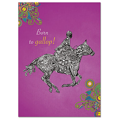 greeting card - born to gallop