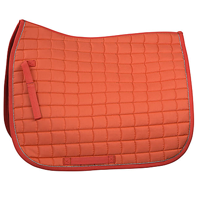 deep coral pink/silver Horze Dressage Saddle Pad