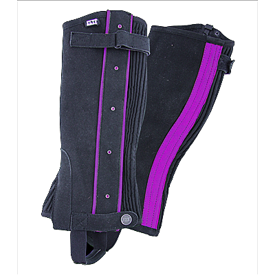 Waldhausen Mini Chaps for Children-Black/Lilac