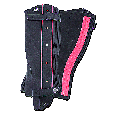 Waldhausen Mini Chaps for Children-Black/Azelea