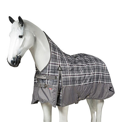 grey plaid horze avalanche medium weight turnout