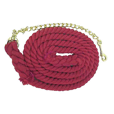 "Equi-Sky 5/8"" Cotton Lead with Chain 248076"