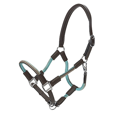 brown turquoise rope halter