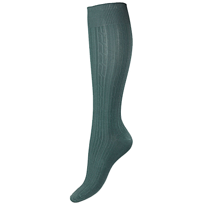 Horze Eva Cableknit Sock - Sage Brush Green