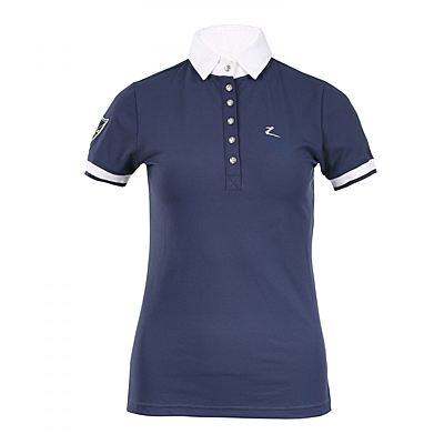 Dark Blue Horze Ines Women's Technical Polo Show Shirt