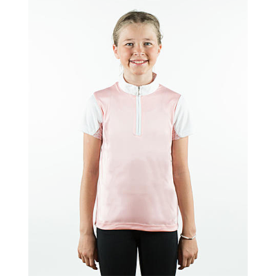 Horze Powder Pink Lena Kids Training/Show Combo Shirt