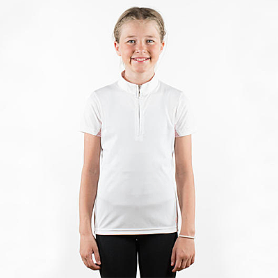 Horze White Lena Kids Training/Show Combo Shirt