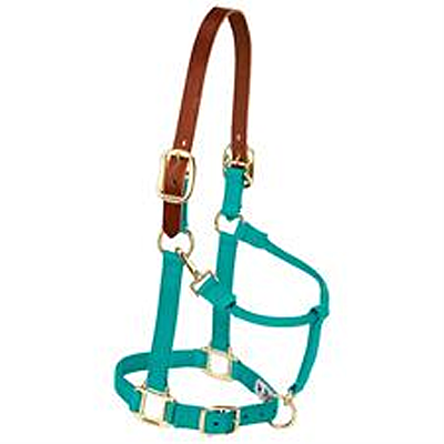 "Weaver Leather Breakaway Original Adjustable Chin and Throat Snap Halter, 3/4"" Weanling/Pony"