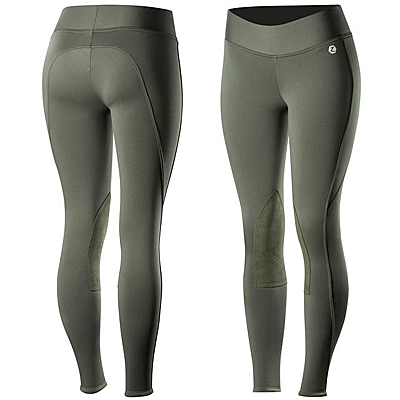 Horze Active Women's Knee Patch Winter Tights