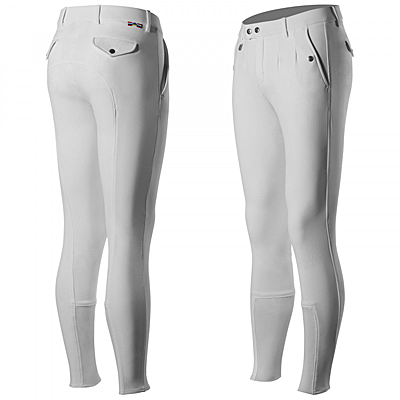 white mens grand prix full seat breeches
